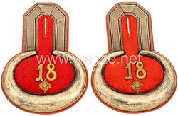 Preußen Paar Epauletten für einen Oberleutnant im Samländischen Pionier-Bataillon Nr. 18