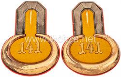 Preußen Paar Epauletten für einen Leutnant im Kulmer Infanterie-Regiment Nr. 141