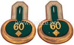 Preußen Paar Epauletten für einen Oberleutnant im Infanterie-Regiment Markgraf Karl (7. Brandenburgisches) Nr. 60