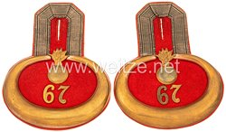 Preußen Paar Epauletten für einen Leutnant im 2. Unter-Elsässischen Feldartillerie-Regiment Nr. 67