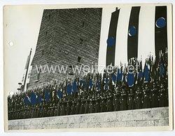 III. Reich Pressefoto: Aufmarsch Deutsch-Italienische Freundschaft