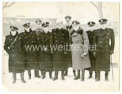 Wehrmacht Pressefoto: Deutsche und italienische Offiziere