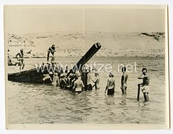 Wehrmacht Pressefoto: Sicherung einer Küste in Nordafrika