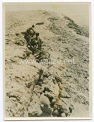 Wehrmacht Pressefoto: Vorderster MG-Posten an der Bardiafront 15.9.1941