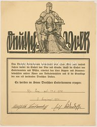 III. Reich - Originalunterschriften von Erich Ludendorff und seiner Frau Mathilde Ludendorff