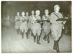 III. Reich Pressefoto: Der nächtliche Trauerzug nach Tannenberg 7.8.1934