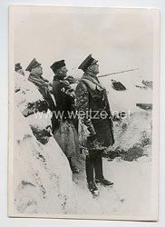 Wehrmacht Pressefoto, Finnische Offiziere bei einem deutschen Armee-Oberkommando 11.4.1942
