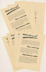 Protektorat Böhmen und Mähren- Tschechische Liga gegen den Bolschewismus - Flugblatt von 1944