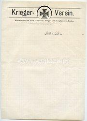 Bayern - Kriegerverein Roth am Sand - Mitgliedschaft des bayer. Veteranen-, Krieger- und Kampfgenossen-Bundes - Briefpapier
