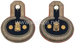 Preußen Paar Schulterstücke für einen Militärgerichts-Oberauditeur