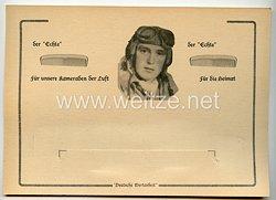 """III. Reich - Werbeblatt mit Halterung für einen Kamm """" Deutsche Wertarbeit """" für die Flieger der Luftwaffe"""