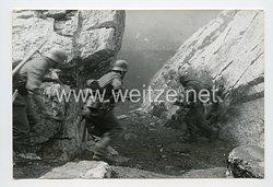 Wehrmacht Heer Pressefoto: Der Meldehund vor dem Einsatz