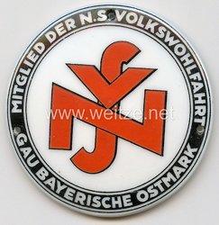 """III. Reich - Türplakette - """" Mitglied der NS-Volkswohlfahrt Gau Bayerische Ostmark """""""