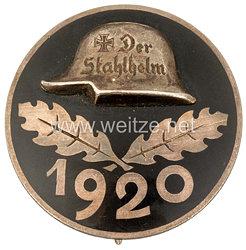 Stahlhelmbund - Diensteintrittsabzeichen 1920, große Ausführung 35 mm aus Silber