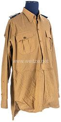 Luftwaffe Afrikakorps Diensthemd für einen Stabsarzt