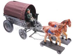 Blechspielzeug - Heer Feldwagen mit Kutschbock und Plane
