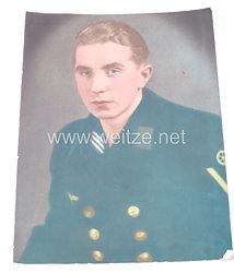 Kriegsmarine Portraitfoto, Maschinengefreiter