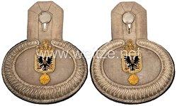 Preußen Paar Epauletten für einen Militär-Intendantur-Sekretär