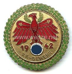 Standschützenverband Tirol-Vorarlberg -Gaumeisterabzeichen 1942 in Gold mit Eichenlaubkranz