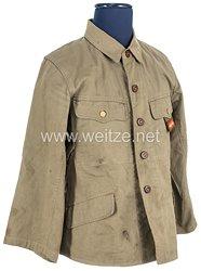 Japan 2. Weltkrieg Kaiserlich Japanische Armee, Feldbluse Tropenausführung für einen Oberleutnant