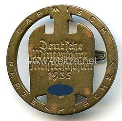III. Reich - Erinnerungsabzeichen an die Deutsche Wintersport Meisterschaften 1935 Garmisch-Partenkirchen