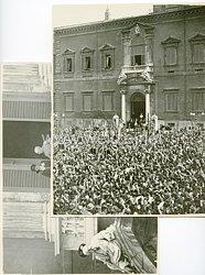 Königreich Italien Pressefoto: Viktor Emanuel III. hält eine Rede