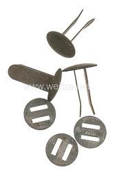 Wehrmacht Satz Stahlhelmnieten für das Helmfutter