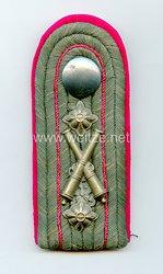 Preußen 1. Weltkrieg Einzel Schulterstück feldgrau für einen Ingenieur der Technischen Institute der Artillerie