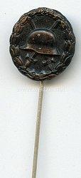 Verwundetenabzeichen in Schwarz 1918 - Miniatur