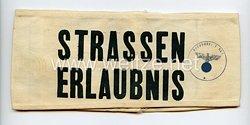 """Wehrmacht Armbinde """"Strassenerlaubnis"""" Ortskommandantur 863"""