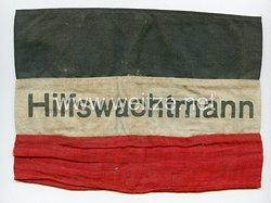 """Weimarer Republik Armbinde """"Hilfswachtmann"""""""