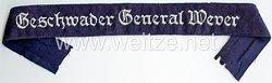 """Luftwaffe Ärmelband """"Geschwader General Wever"""" für Offiziere"""
