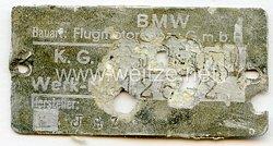 Luftwaffe Typenschild - für ein BMW Flug- Motor