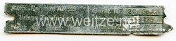 Luftwaffe Typenschild - der Firma Telefunken Geräte Nummer 124 - 460A1