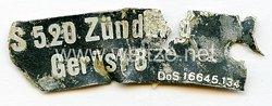 Luftwaffe Typenschild - S520 Zündung Gerüst 8