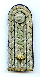 Preußen 1. Weltkrieg Einzel Schulterstück feldgrau für einen Oberarzt