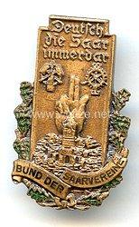 """III. Reich - Bund der Saarvereine """" Deutsch sei die Saar immerdar """" -Mitgliedsabzeichen 3. Form"""