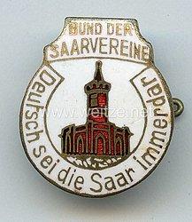 """III. Reich - Bund der Saarvereine """" Deutsch sei die Saar immerdar """" -Mitgliedsabzeichen 2. Form"""