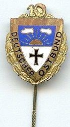 Deutscher Ostbund ( DO ) -Ehrennadel für 10 jährige Mitgliedschaft