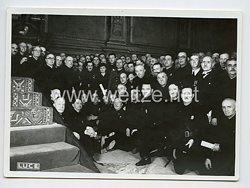 Königreich Italien Pressefoto: Benito Mussolini und die Schwarzhemden Milizia Volontaria per La Sicurezza Nazionale (MVSN) 1936