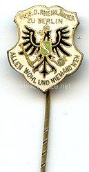 """Verein der Rheinländer zu Berlin """" Allen wohl und niemand weh """" -Mitgliedsabzeichen"""