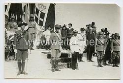 Königreich Italien Foto, Stabschef der LuftwaffePietro Piacentini bei einer Besichtigung