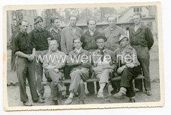Wehrmacht Gruppenfoto, Deutsche in französische Gefangenschaft