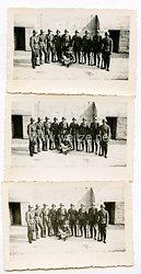 Luftwaffe Fotos, Soldaten vor einen Bunker