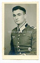 Wehrmacht Portraitfoto, Offiziersanwärter mit Allgemeinen Sturmabzeichen