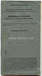 Freie Stadt Danzig - Internationaler Fahrausweis für den beschränkten Verkehr im Ausland