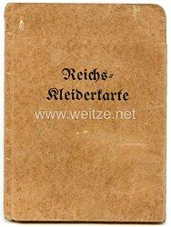 III. Reich - Sammelmappe für Reichskleiderkarte