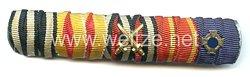 Bandspange eines badischen Veteranendes 1. Weltkriegs und späteren Beamten