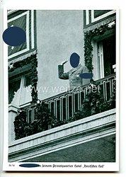 """III. Reich - Propaganda-Postkarte - """" Reichsparteitag Nürnberg 1936 - Der Führer in seinem Privatquartier Hotel """" Deutscher Hof """""""