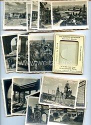 """III. Reich - kleine Mappe mit Bildchen - """" München - 15 neue Original-Photos """""""